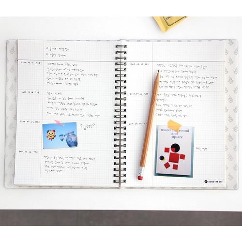 Iconic Seize The Day Wirebound Weekly Undated Planner - Fallindesign
