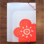 N.IVY Lotus Blossom translucent document file holder