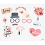 Front - Dailylike Wedding photo stick props set