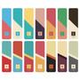 Colorful alphabet bookmark set