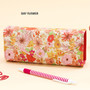 Day flower - Pattern square pencil case box ver2