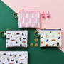 In the zoo coin card zipper wallet with key ring