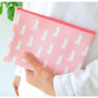 Pink - In the zoo slim zippered pocket pouch