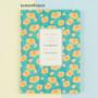 Lemon flower - 2018 Flower pattern dated weekly journal scheduler