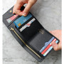 Black - Day classic cowhide leather trifold wallet