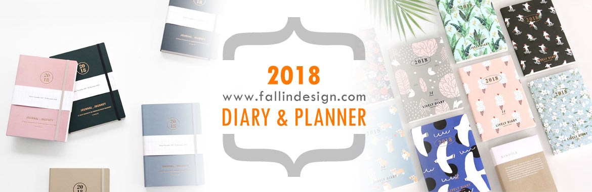 fallindesign 2018 cute diary planner