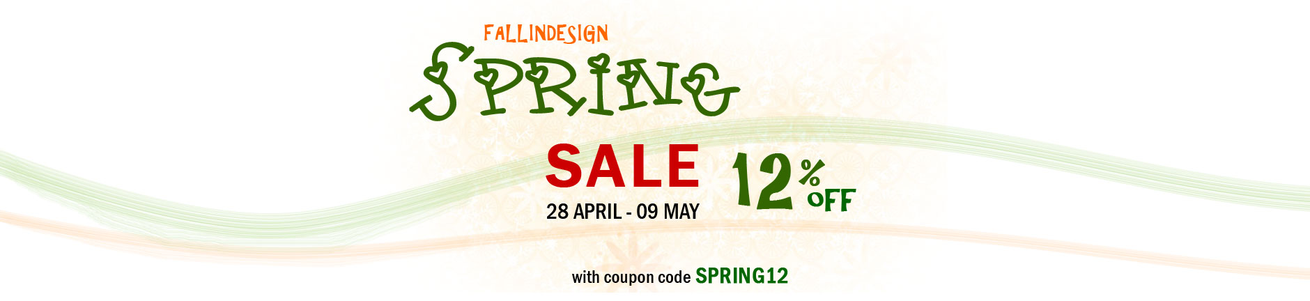 Fallindesign Spring sale 12% OFF
