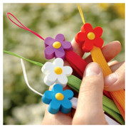Flower rubber phone strap