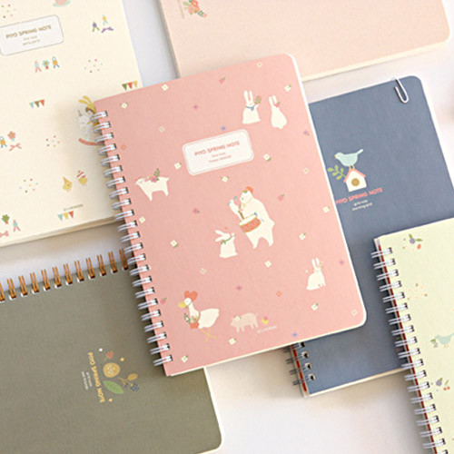 Livework Piyo Cute Animal Twin Wire Notebook