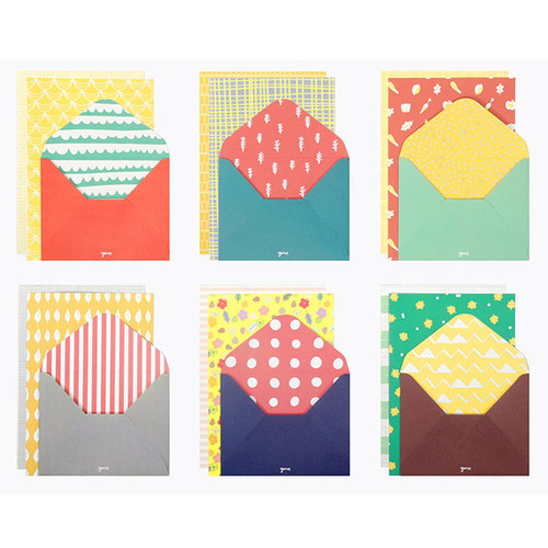 Gunmangzeung Cute Pattern Letter Paper And Envelope Set Ver 2