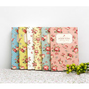 Pour vous flower pattern small diary