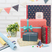Scandinavia pattern wrapping paper pack (A)