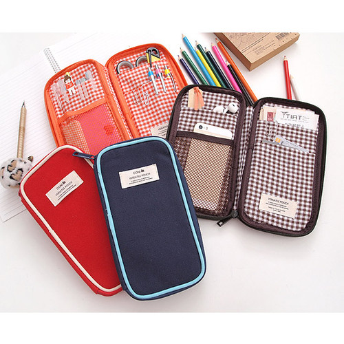 2young Coni Canvas Zip Around Multi Pouch Case Fallindesign
