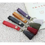 The Basic handmade leather strap with Key ring