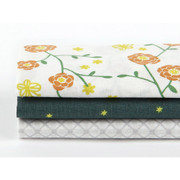 fabric pack of 3 cotton - The scent of flower