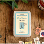 Nacoo Stamp sticker set with blue tin case