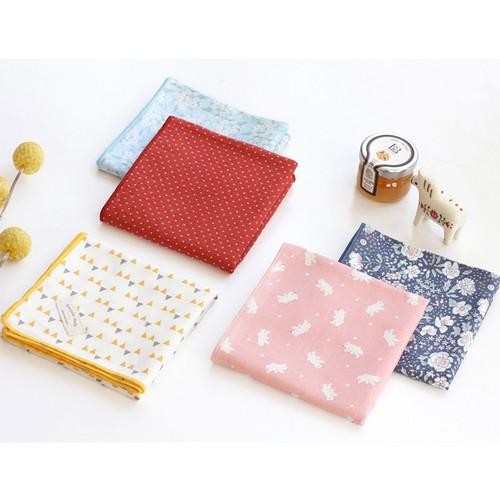 Vintage pattern cotton handkerchief hankie ver.3
