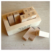Handwriting style Number rubber stamp set