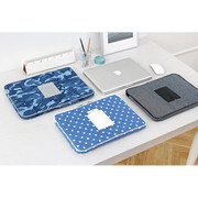 The Basic cotton denim laptop pouch case 15 inch ver.2