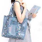 Daisy mint - Coated mesh tote shoulder bag