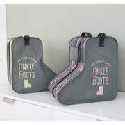 Pastel scandic ankle boots storage bag