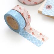 """0.59""""X11yd pattern washi masking tape set 14"""