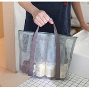 Ice gray - Travelus medium mesh pouch handbag ver.3