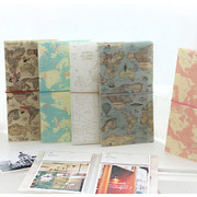 World map pattern instax mini and 4X6 slip in photo album