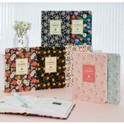 2016 Premium flower daily undated small journal
