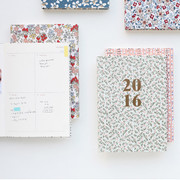 Warm breeze blows pattern dated diary