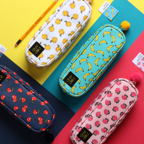 wanna this pop art fruit deep zipper pouch