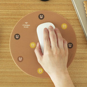 Cookie pattern standard round mouse pad