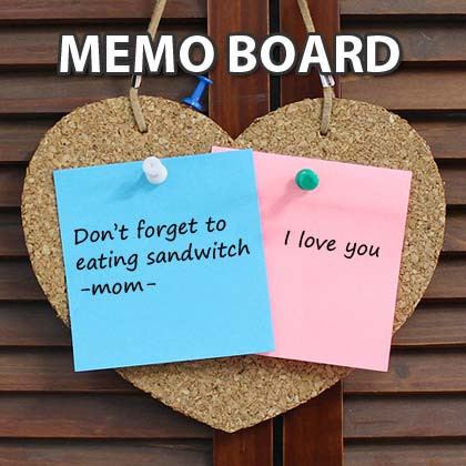 Heart shaped cork memo message board for home and office for Heart shaped bulletin board