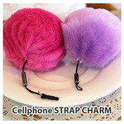 Fur smartphone cellphone CHARM STRAP String KEY CHAIN
