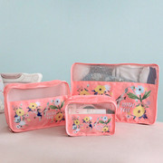 Pink - Rim travel luggage packing cubes set