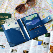 Navy blue - Start of travel RFID blocking passport cover