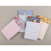 Cute character lined memo pad