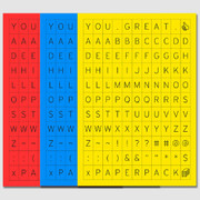 You great alphabet index sticker set