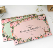 2017 Second mansion Blossom desk monthly dated planner scheduler