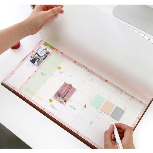 Second Mansion Undated Monthly Planner Paper With Desk Mat