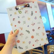 Moons Friends flower line pattern A4 clipboard