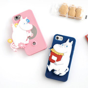 Moomin case for iphone 6 6S 7 with round mirror