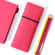 Pink - Fenice Office pencil case with elastic band