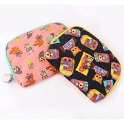 Air mesh cushion zipper pouch