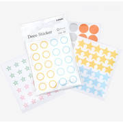 Dailylike Transparent circle and star deco sticker set ver.3