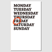 Paperpack Press graphic paperback plain notebook - Friday