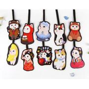 Choo Choo cat travel luggage name tag