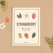 Blessom Blossom strawberry small lined notebook