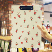 N.IVY Jumpink rope girl pattern A4 clipboard
