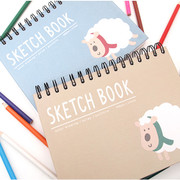 2young Woolly wirebound drawing sketch notebook